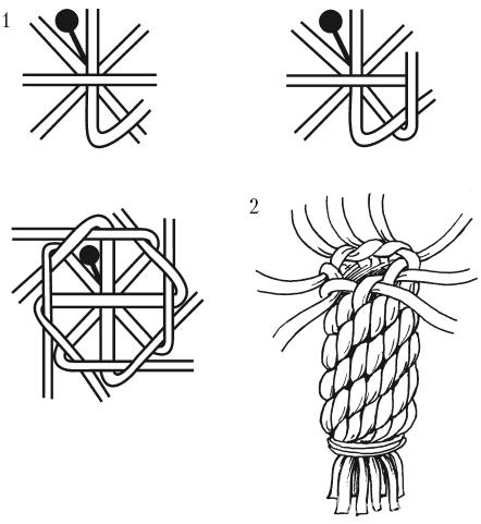 Плетение узлов ананас